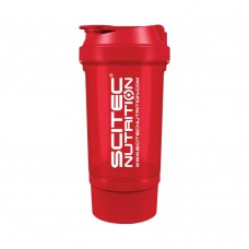 SCITEC TRAVELLER SHAKER 500 ML RED